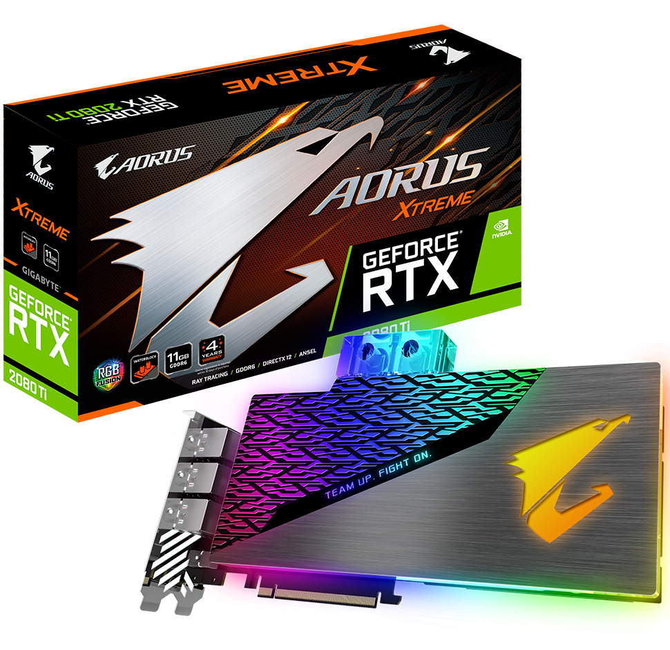 Gigabyte AORUS GeForce RTX 2080 Ti Extreme Waterforce WB 11G