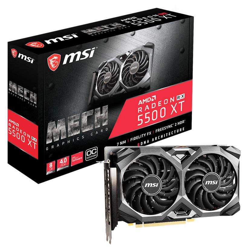 MSI Radeon RX 5500 XT Mech OC 8GB