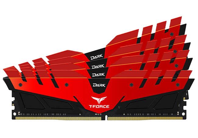 Team T-Force Dark 32GB (4x8GB) 3200MHz CL16 DDR4 Red Black