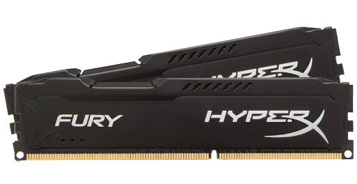 Kingston HyperX Fury 8GB (2x4GB) 1866MHz CL10 DDR3 Black