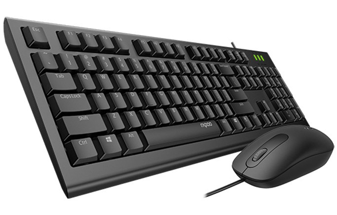 Rapoo X120 Pro Keyboard and Mouse Combo