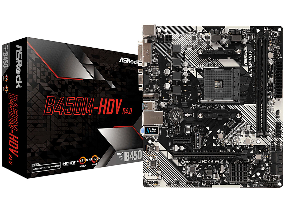 ASRock B450M HDV R4 Motherboard