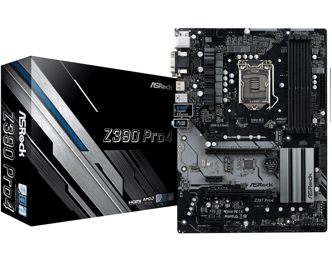 ASRock Z390 Pro4 Motherboard