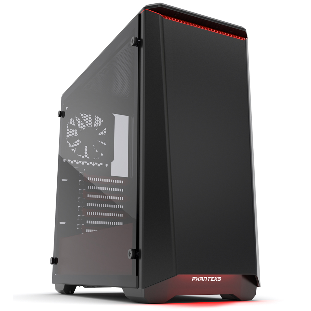 Phanteks Eclipse P400S Tempered Glass Black Red