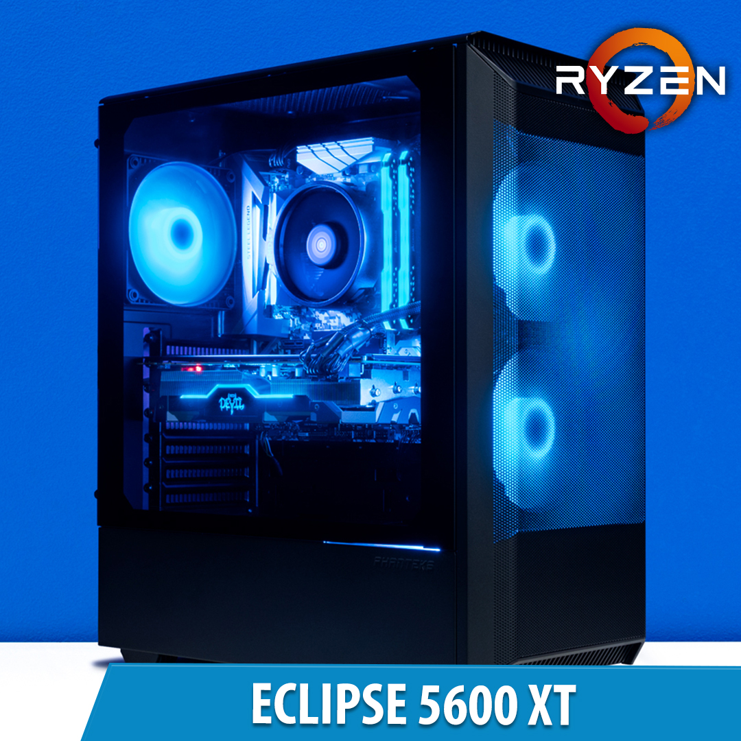 PCCG Eclipse 5600 XT Gaming System