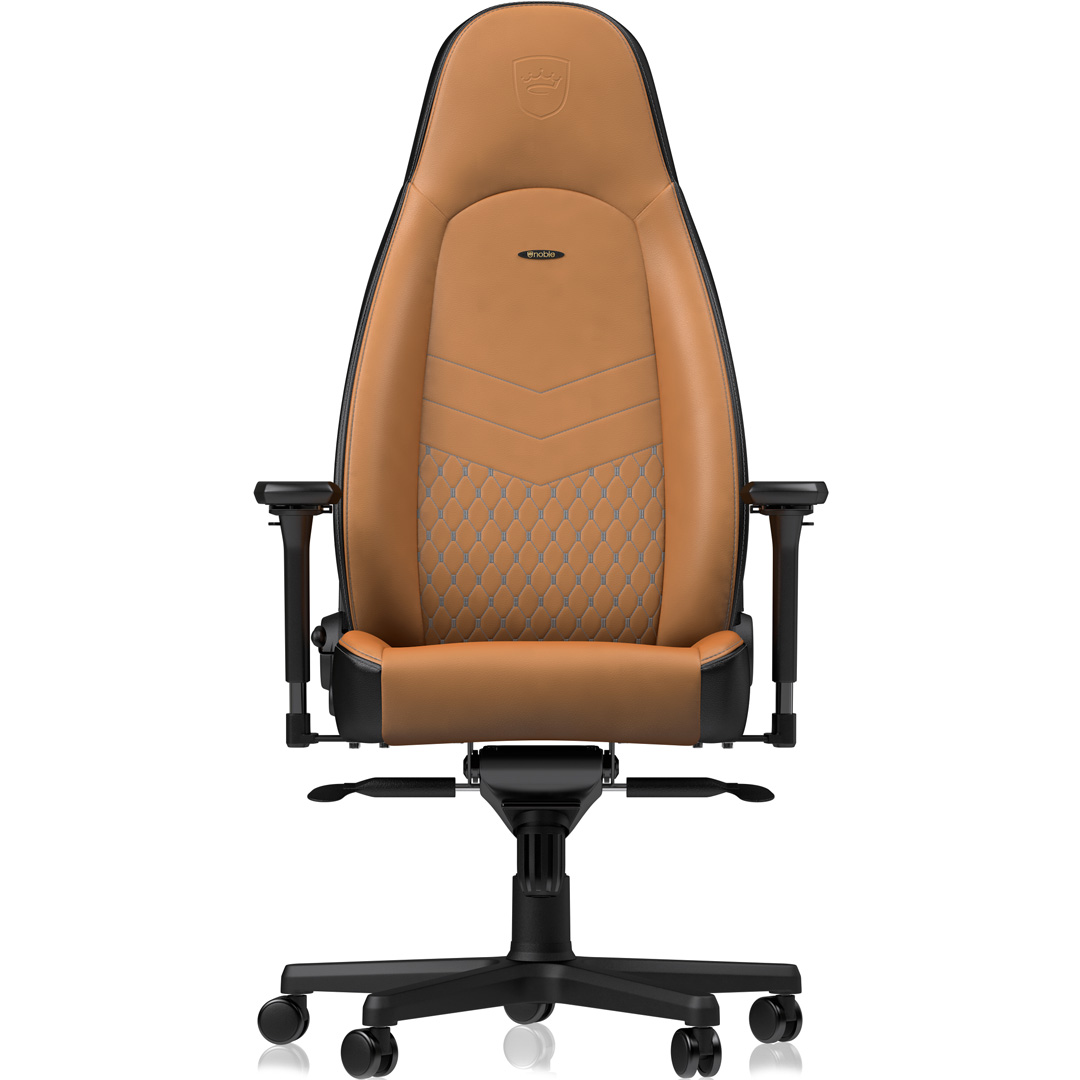 Picture of: Buy Noblechairs Icon Real Leather Gaming Chair Cognac Black Nbl Icn Rl Cbk Pc Case Gear Australia