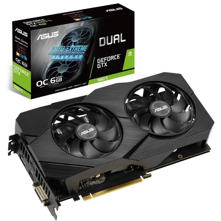ASUS GeForce GTX 1660 Ti Dual EVO OC 6GB