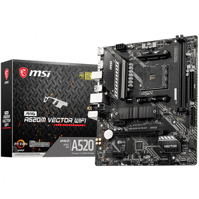 MSI MAG A520M Vector Wi-Fi Motherboard