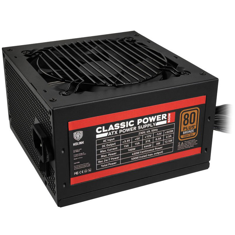 Kolink Classic Power Bronze 500W Power Supply