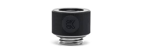 EK HDC 12mm Rigid Tube Fitting Black