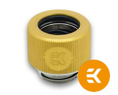 EK HDC 12mm Rigid Tube Fitting G1/4 Gold