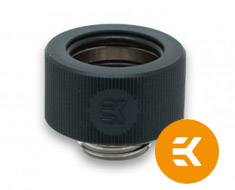 EK HDC 16mm Rigid Tube Fitting Elox Black