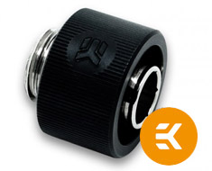 EK ACF 12/16mm Compression Fitting Black