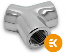 EK AF Y-Splitter 3F G1/4 Nickel