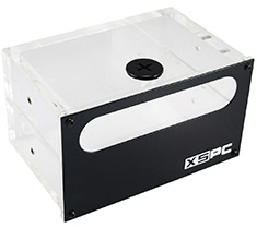 XSPC Acrylic Dual 5.25in Bay Reservoir (Alu Front)