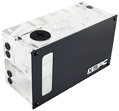 XSPC Twin D5 Dual Bay Reservoir Acrylic (Alu Front)