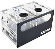 XSPC Acrylic Dual 5.25in Reservoir Pump Combo with Two Laing DDC