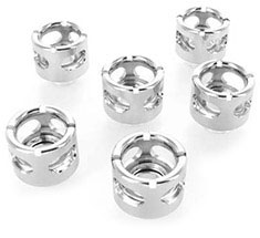 Monsoon HL 19/13mm Compression Fitting Black Chrome 6 Pack