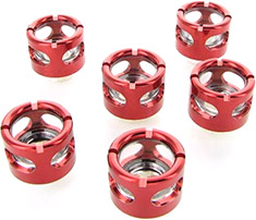 Monsoon HL 16/13mm Compression Fitting Red 6 Pack