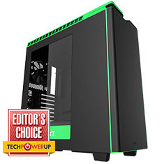 NZXT H440 Mid Tower Case Black/Green 2015 Edition
