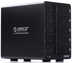 Orico 5 Bay USB 3.0 Raid Hard Drive Enclosure