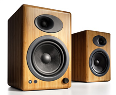 Audioengine 5+ Premium Powered Speakers Bamboo
