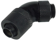 Alphacool 13/10 Compression Fitting 45 Degree - Black