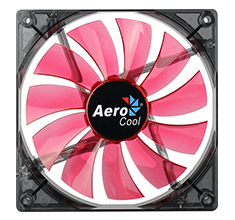 Aerocool Lightning 140mm Red LED Fan