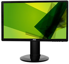 AOC E2460PHU 24in Widescreen LED Monitor
