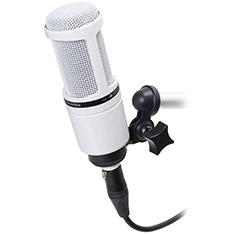 Audio-Technica AT2020 White XLR Recording Microphone