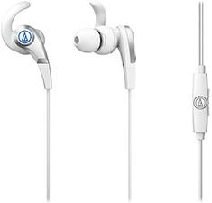 Audio-Technica ATH-CKx5iS SonicFuel In-Ear Headphones White