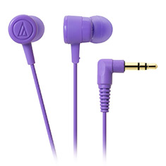 Audio-Technica ATH-CKL220 DIP In Ear Headphones Purple