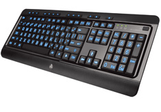 AZIO Large Print Tri-Colour Illuminated Keyboard