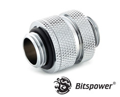 Bitspower Mini Dual Adjustable Aqua Link Pipe Silver