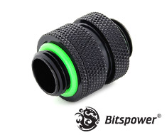 Bitspower Mini Dual Adjustable Aqua Link Pipe Matte Black