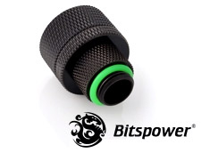 Bitspower G1/4 Matte Black Rotary Compression Fitting CC5