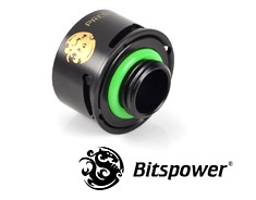 Bitspower Premium G1/4 Matte Black Quick Compression Fitting
