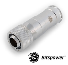 Bitspower Female QDC Rotary Compression Fitting Silver Shining
