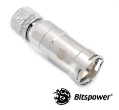 Bitspower QDC Female With Compression Fitting CC6 Silver Shining