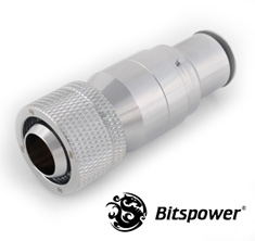 Bitspower Male QDC Rotary Compression Fitting Silver Shining