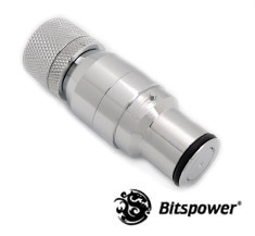 Bitspower QDC Male With Compression Fitting CC6 Silver Shining