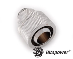 Bitspower G1/4 Silver Shining Rotary Compression Fitting