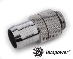Bitspower G1/4 Silver Shining 1/2in Rotary Fitting