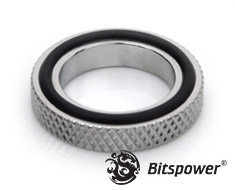 Bitspower G1/4 Fitting Spacer Silver Shining