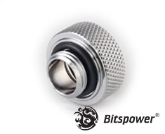 Bitspower Silver Shining G1/4 OD 16mm Multi-Link Adapter