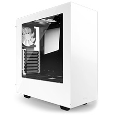 NZXT S340 Mid Tower Case White