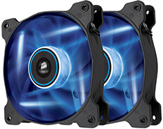 Corsair Air Series SP120 Blue LED Fan Twin Pack