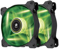 Corsair Air Series SP120 Green LED Fan Twin Pack