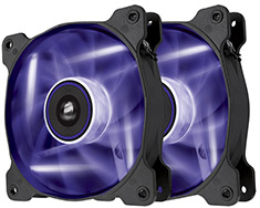 Corsair Air Series SP120 Purple LED Fan Twin Pack