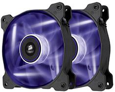 Corsair Air Series SP120 Purple LED Fan Twin Pack
